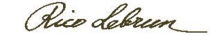 Rico Lebrun signature